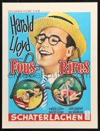 6z047 FUNNY SIDE OF LIFE 16x21 REPRO poster 1990s great wacky artwork of Harold Lloyd!