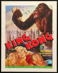 6z052 KING KONG 15x20 REPRO poster 1990s Fay Wray, Robert Armstrong & the giant ape!