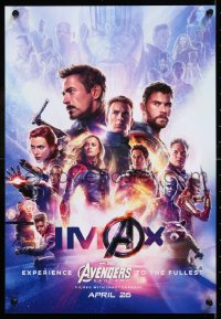 6z009 AVENGERS: ENDGAME IMAX mini poster 2019 Marvel Comics, cool montage with Hemsworth & top cast!