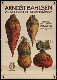 6z078 BAHLSEN 24x34 Czech advertising poster 1920s art and information, Arnost tubers!