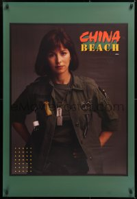 6z001 CHINA BEACH tv poster 1988 great image of sexy Dana Delany in uniform during Vietnam War!