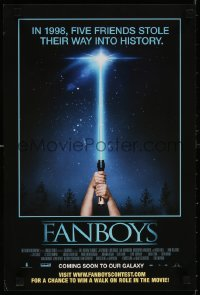 6z010 FANBOYS mini poster 2009 Kyle Newman, cool wacky hands holding toy lightsaber parody image!