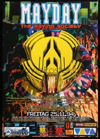 6z067 MAYDAY 23x33 German music poster 1994 really completely different art and design!