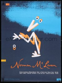 6z022 NORMAN MCLAREN 24x32 Canadian film festival poster 1980s really wild, different art!