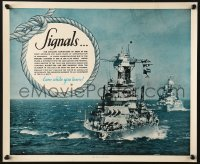 6z040 SIGNALS 14x17 WWII war poster 1940 join the Navy & earn while you learn a useful trade!