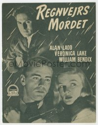 7a157 BLUE DAHLIA Danish program 1948 Alan Ladd & sexy Veronica Lake, cool different images!
