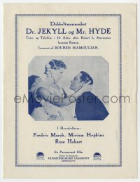 7a203 DR. JEKYLL & MR. HYDE Danish program 1932 Fredric March, Miriam Hopkins, different images!