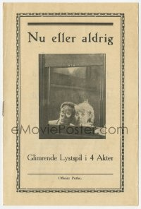7a327 NOW OR NEVER Danish program 1921 different images of Harold Lloyd & Mildred Davis!
