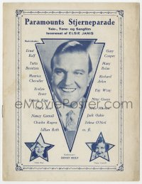 7a335 PARAMOUNT ON PARADE Danish program 1930 Ernst Rolf, Clara Bow, Nancy Carroll, different!