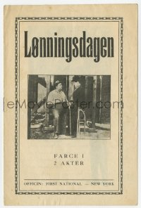7a336 PAY DAY Danish program 1924 different images of Charlie Chaplin as expert bricklayer!