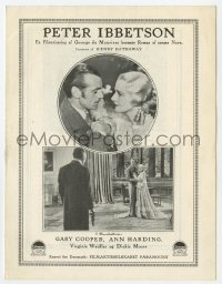 7a338 PETER IBBETSON Danish program 1936 Gary Cooper, Ann Harding, Dickie Moore, different images!