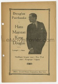7a349 REACHING FOR THE MOON Danish program 1920 factory worker Douglas Fairbanks Sr. is royalty!