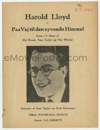 7a357 SAFETY LAST Danish program 1924 completely different images of wacky Harold Lloyd!
