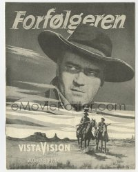 7a362 SEARCHERS Danish program 1956 different images of John Wayne, John Ford western classic!