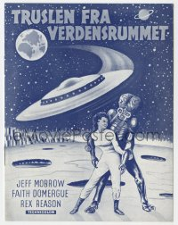 7a405 THIS ISLAND EARTH Danish program 1958 sci-fi classic, cool different alien artwork!