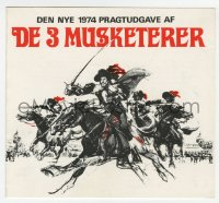 7a407 THREE MUSKETEERS Danish program 1974 Michael York, Alexandre Dumas, cool different art!