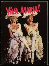 7a417 VIVA MARIA Danish program 1966 Louis Malle, sexy Brigitte Bardot & Jeanne Moreau, different!