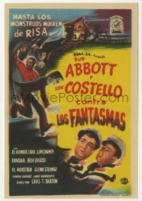7a437 ABBOTT & COSTELLO MEET FRANKENSTEIN Spanish herald 1950 Wolfman & Dracula after Bud & Lou!