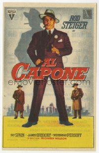7a443 AL CAPONE Spanish herald 1959 Soligo art of Rod Steiger as the most notorious gangster!