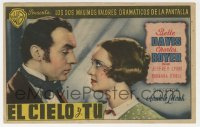7a445 ALL THIS & HEAVEN TOO Spanish herald 1946 close up of Bette Davis & Charles Boyer!