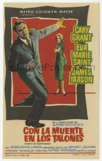 7a626 NORTH BY NORTHWEST Spanish herald 1959 Hitchcock, Cary Grant, Eva Marie Saint, Jano art!