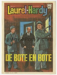 7a635 PARDON US Spanish herald 1967 convicts Stan Laurel & Oliver Hardy classic, different art!