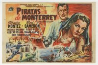 7a645 PIRATES OF MONTEREY Spanish herald 1950 different art of Maria Montez & Rod Cameron by Tulla!