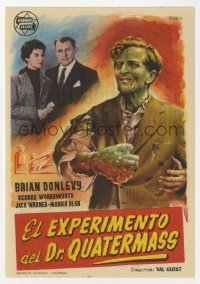 7a651 QUATERMASS XPERIMENT Spanish herald 1957 Val Guest, Hammer, Brian Donlevy, different art!