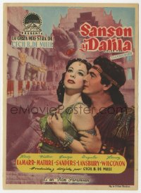7a662 SAMSON & DELILAH Spanish herald 1952 Hedy Lamarr & Victor Mature, Cecil B. DeMille, different