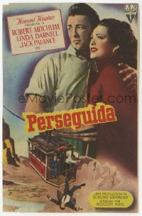 7a667 SECOND CHANCE Spanish herald 1954 different image of Robert Mitchum & Linda Darnell!