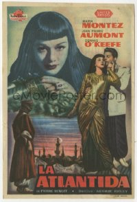 7a673 SIREN OF ATLANTIS Spanish herald 1950 Atlantis the Lost Continent, sexiest Maria Montez!