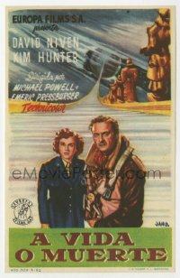7a679 STAIRWAY TO HEAVEN Spanish herald 1952 Powell & Pressburger, Matter of Life & Death, Jano art