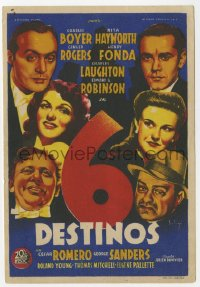7a684 TALES OF MANHATTAN Spanish herald 1945 cool different Soligo art of the all-star cast!