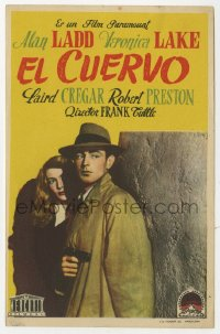7a697 THIS GUN FOR HIRE Spanish herald 1948 great image of Alan Ladd with gun & sexy Veronica Lake!
