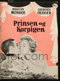 7a342 PRINCE & THE SHOWGIRL Danish program 1958 Laurence Olivier & sexy Marilyn Monroe, different!