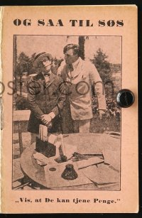 7a358 SAILOR-MADE MAN Danish program R1930s Hal Roach, different images of Harold Lloyd!