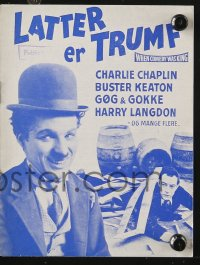 7a420 WHEN COMEDY WAS KING Danish program 1960 Charlie Chaplin, Buster Keaton, Laurel & Hardy!