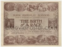 7a014 BIRTH OF A RACE herald R1920s African American answer to Birth of a Nation, ultra rare!