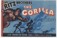 7a051 GORILLA herald 1939 great art of The Ritz Brothers as detectives chased by monster!