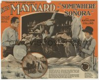 7a107 SOMEWHERE IN SONORA herald 1927 great images of cowboy hero Ken Maynard in California, rare!