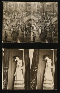 7a002 PHANTOM OF THE OPERA group of 5 stereoscopic slides 1925 Lon Chaney as Red Death, like 3D, rare!