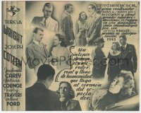 7a668 SHADOW OF A DOUBT 4pg Spanish herald 1945 Hitchcock, Teresa Wright, Joseph Cotten, Barba art!