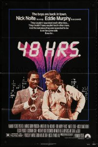7b014 48 HRS. 1sh 1982 Nick Nolte is a cop who hates Eddie Murphy who is a convict!
