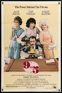 7b022 9 TO 5 1sh 1980 Dolly Parton, Jane Fonda & Lily Tomlin w/tied up Dabney Coleman!