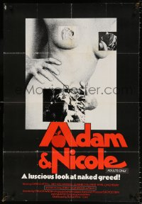 7b031 ADAM & NICOLE 1sh 1976 Michael Watkins, Jennifer Westbrook, erotic inferno!