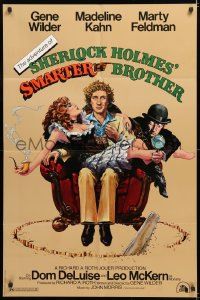 7b032 ADVENTURE OF SHERLOCK HOLMES' SMARTER BROTHER 1sh 1975 art by Alvin & Goldschmidt!