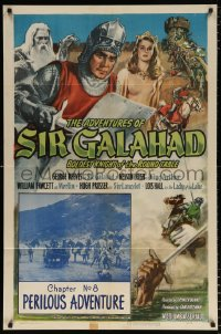 7b037 ADVENTURES OF SIR GALAHAD chapter 8 1sh 1949 George Reeves, Knights of the Round Table!