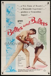 7b137 BELLES & BALLETS 1sh 1960 great completely different images from French dance documentary!