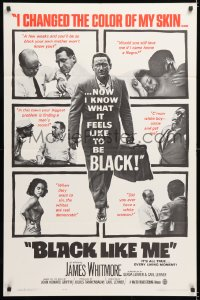 7b160 BLACK LIKE ME 1sh 1964 Carl Lerner, James Whitmore, know what it feels like to be black!