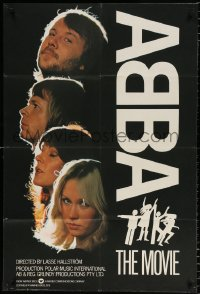 7b023 ABBA: THE MOVIE English 1sh 1978 Swedish pop rock, headshots of all 4 band members!